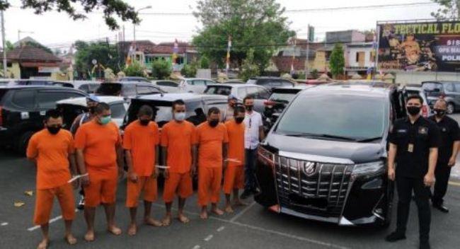 Komplotan Pencuri Mobil Lintas Provinsi Diringkus